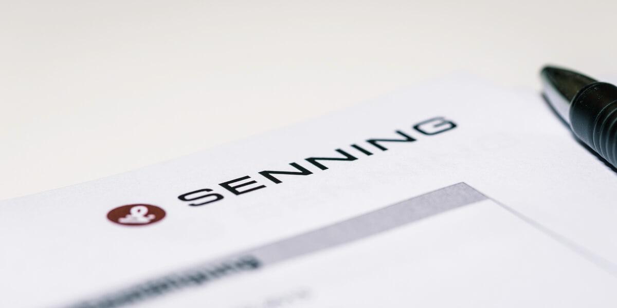 Senning-Logo auf einem Briefbogen