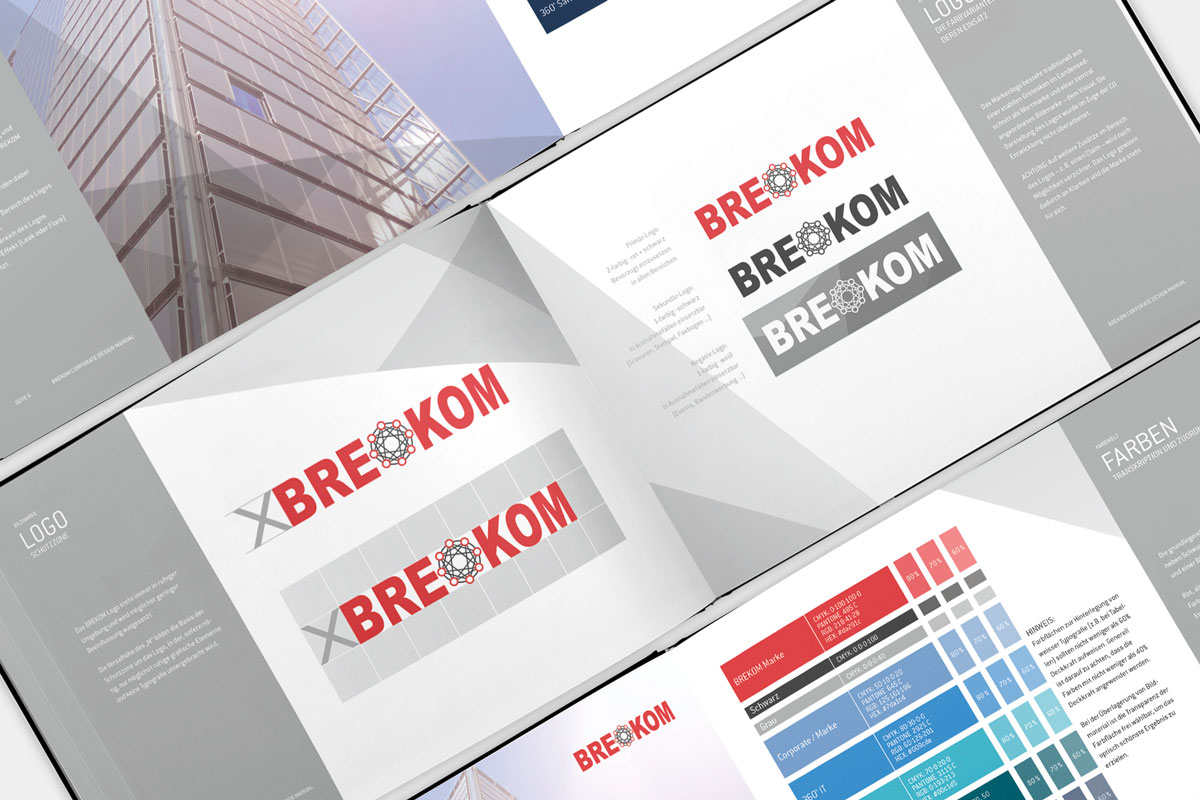 Innenseiten des Brekom Styleguides.