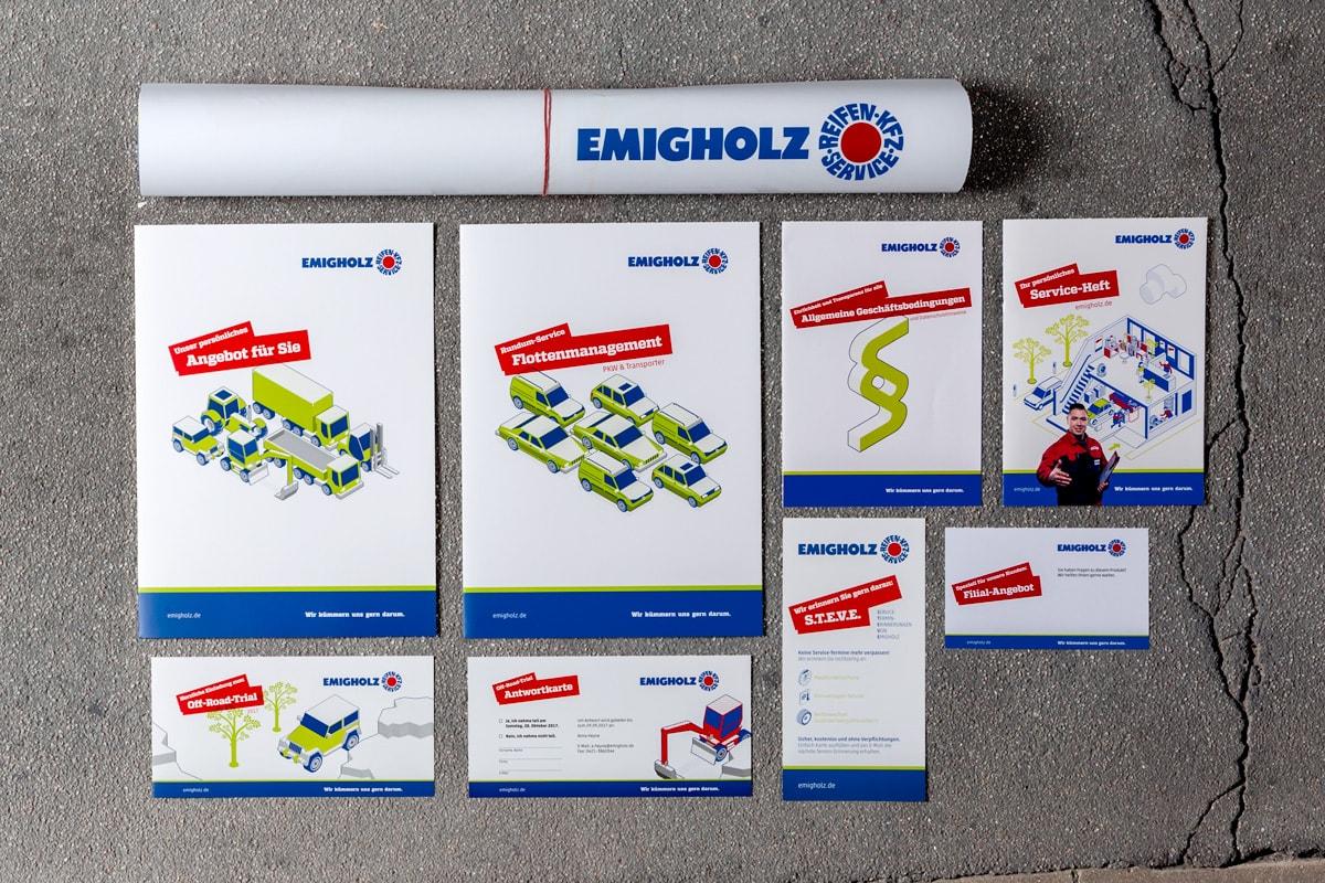 Emigholz Printmedien: Poster, Mappen, Flyer, Folder