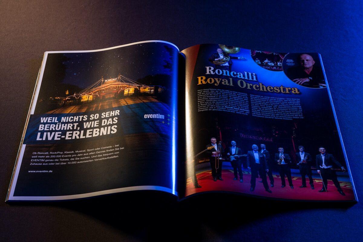 Circus Roncalli-Anzeige von Eventim in einem Magazin