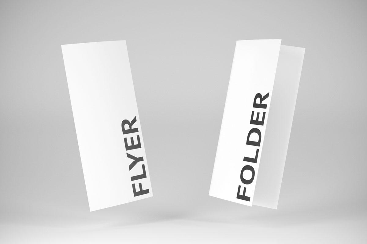Vergleich: Flyer & Folder