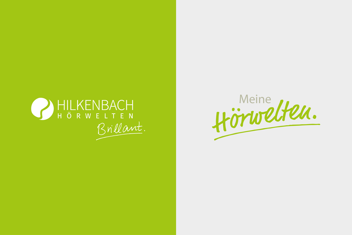 Das Logo von Hilkenbach Hörwelten sowie Meine Hörwelten