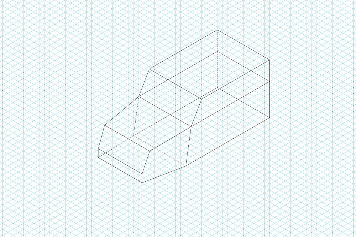 Isometrischer Aufbau der Emigholz Illustrationen: Schritt 1