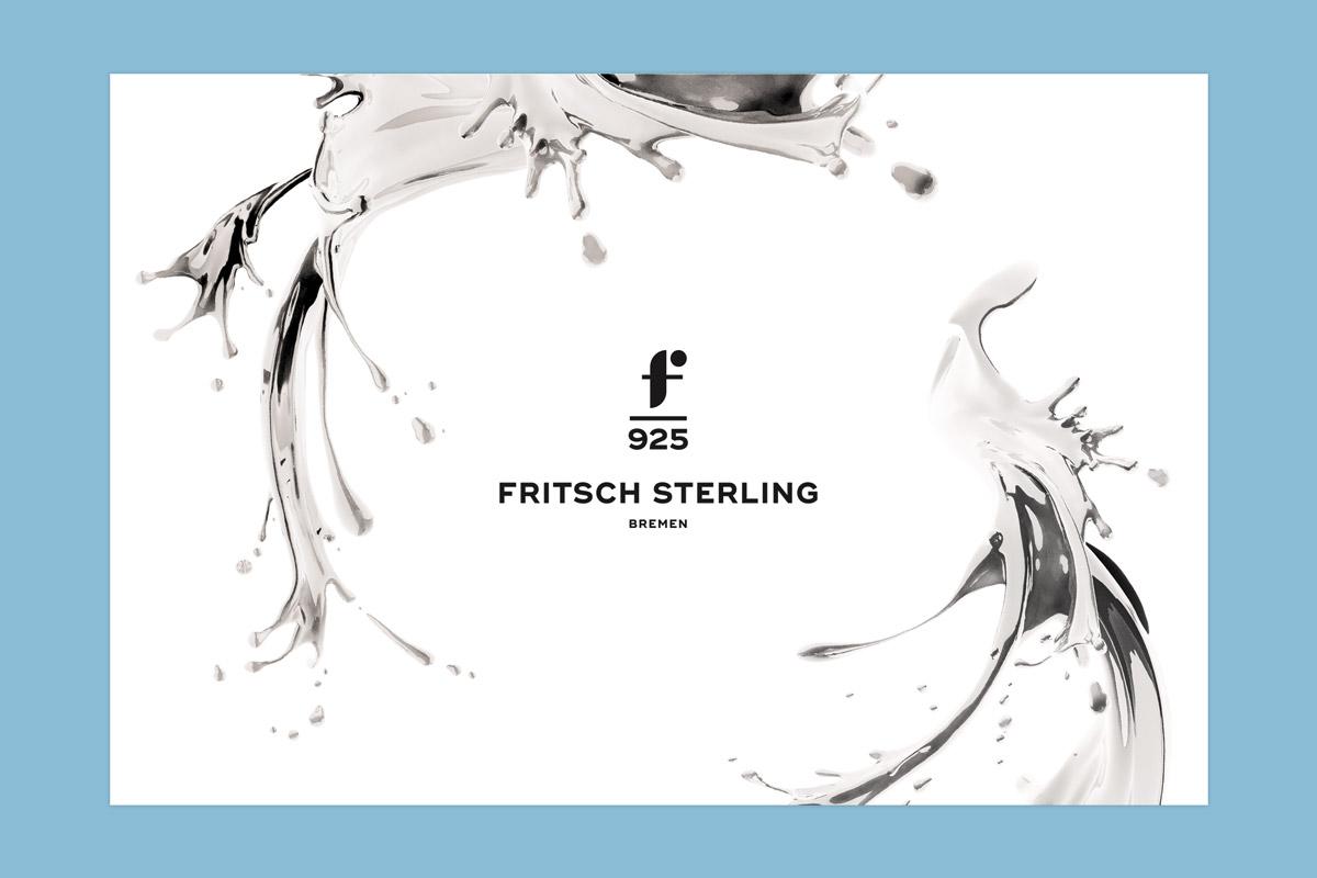 Das Fritsch Sterling Logo umrandet von Liquid-Silver