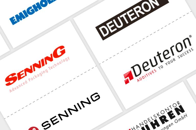 Collage aus Logo-Redesign Beispielen