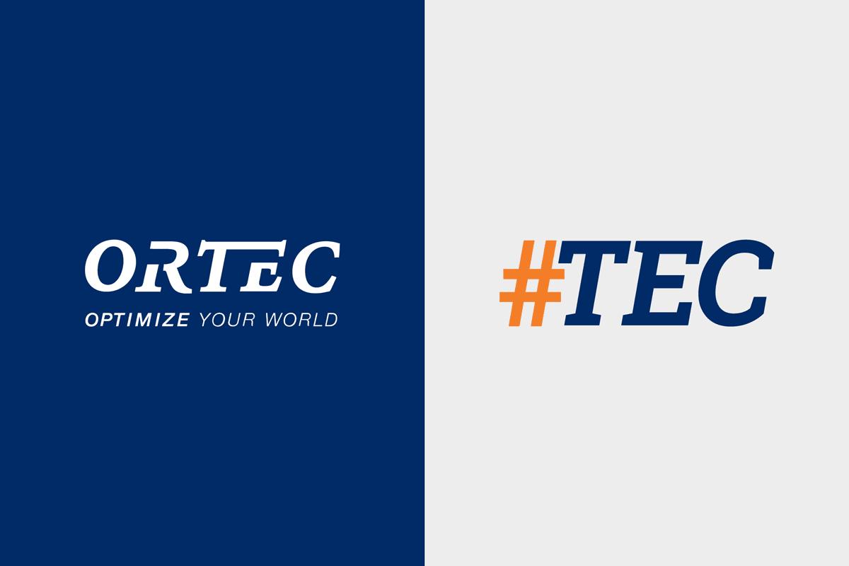 Das Logo von Ortec sowie #tec