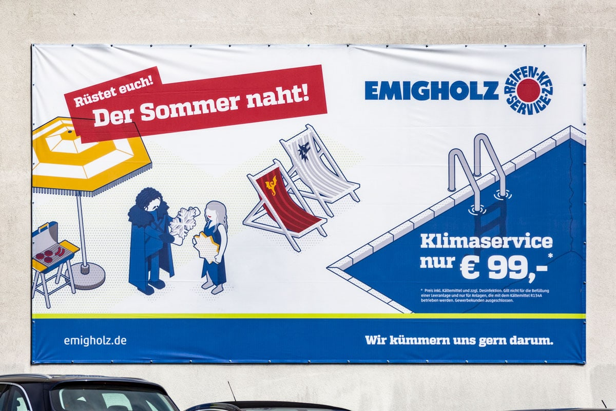 Emigholz Plakat: Der Sommer naht