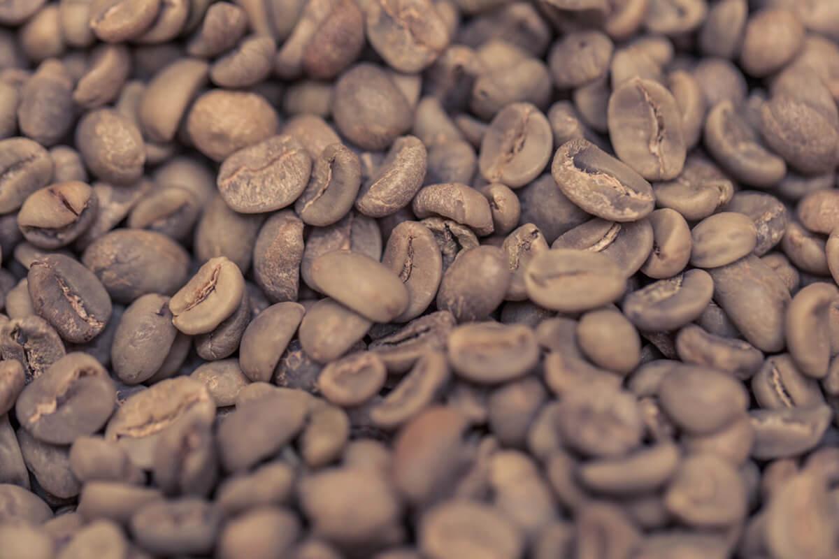Makroaufnahme von Kaffebohnen