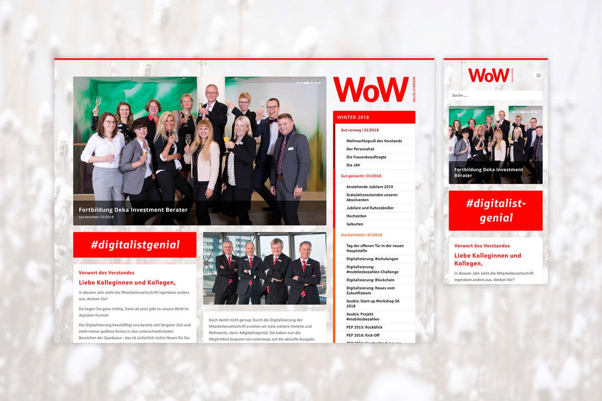 Die Startseite des World of WESPA Online-Magazins