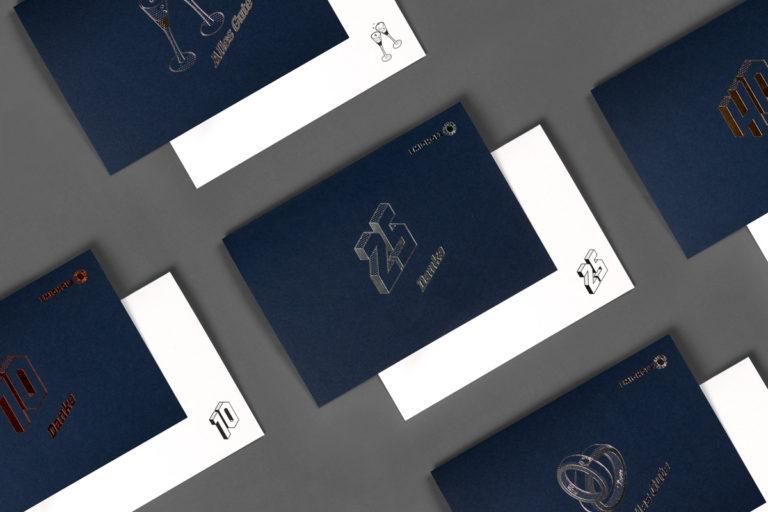 Collage der Glückwunschkarten für Emigholz