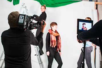 Bild zeigt Kameraaufnahmen am Set von Deichblick