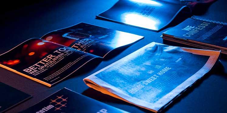Eventim-Anzeigen auf verschiedenen Printprodukten