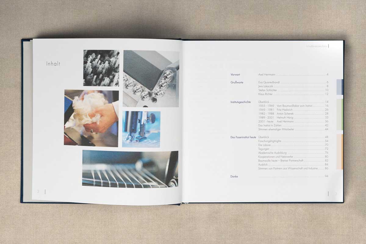 A-Inhaltsverzeichnis Festschrift 50 Jahre Faserinstitut 1