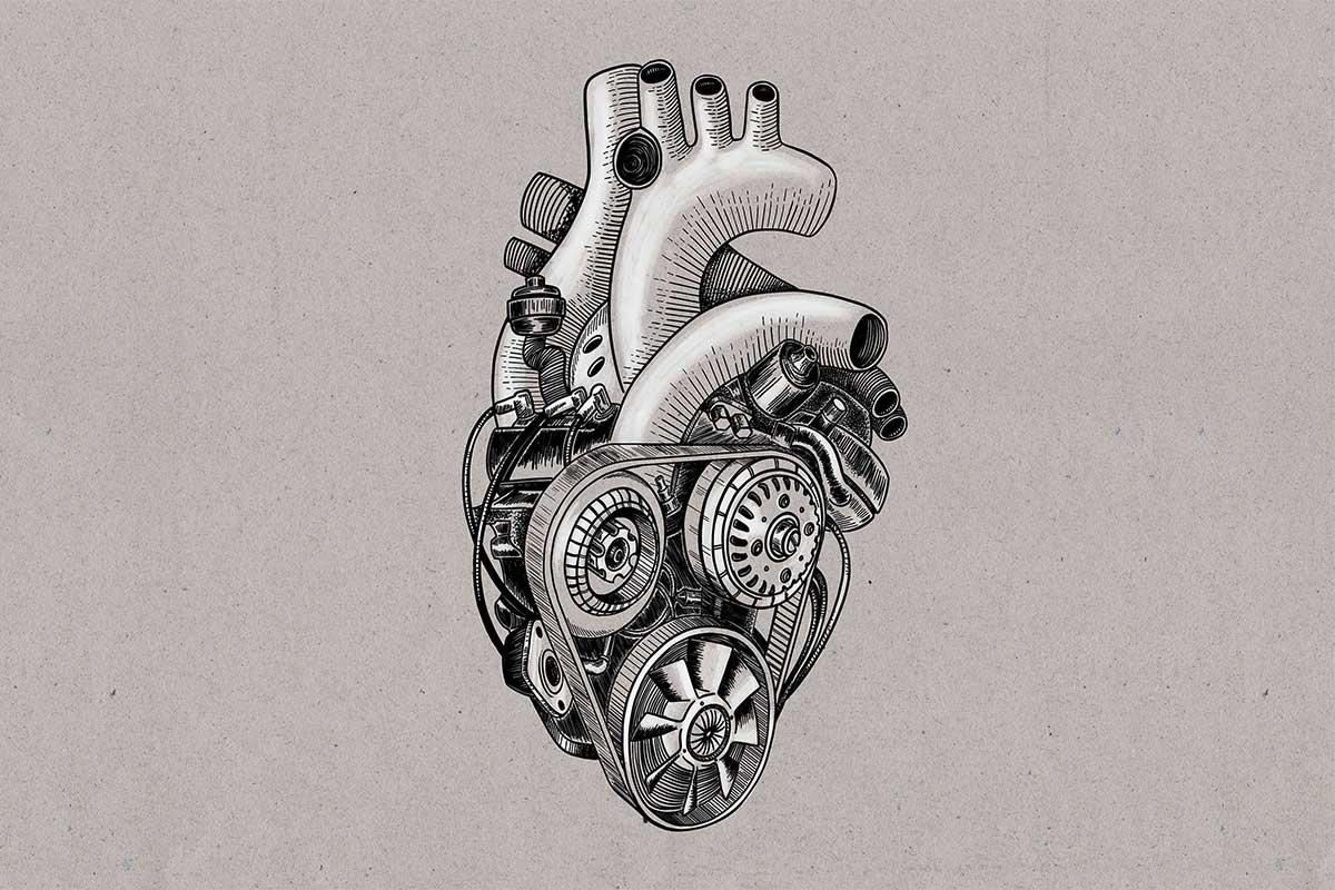 Illustration Motor-Herz