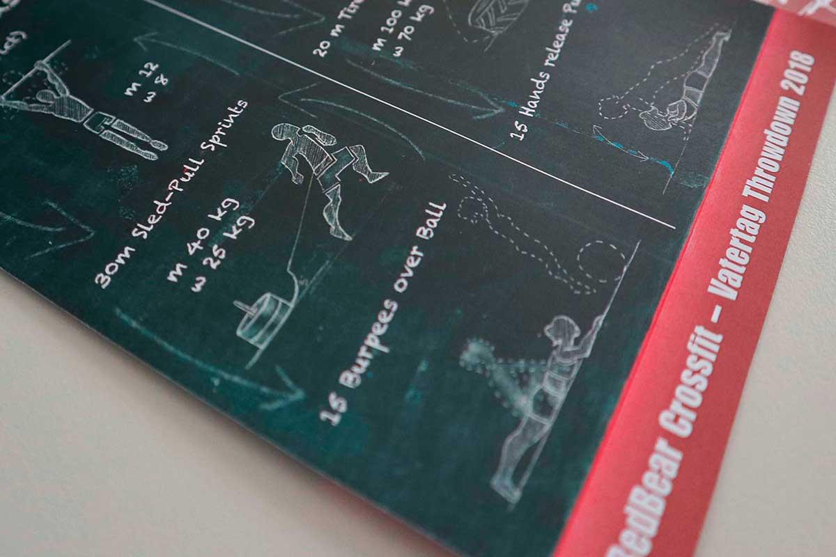 Illustrierter Flyer für RedBear CrossFit