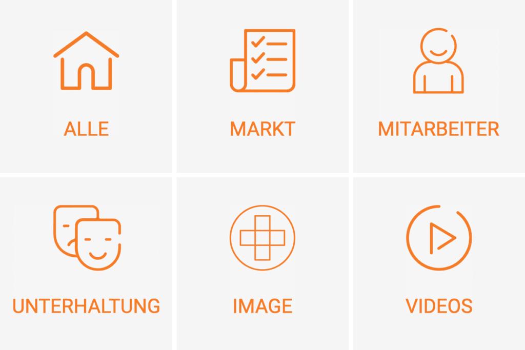 Die Themen-Icons des ORTEC Blogs