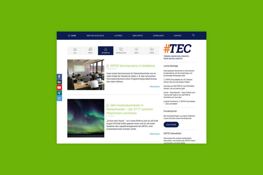 Themenbereich Mitarbeiter ORTEC Blog