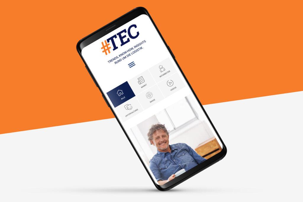 Responsive Webdesign: Darstellung des #TEC Blogs auf dem Smartphone
