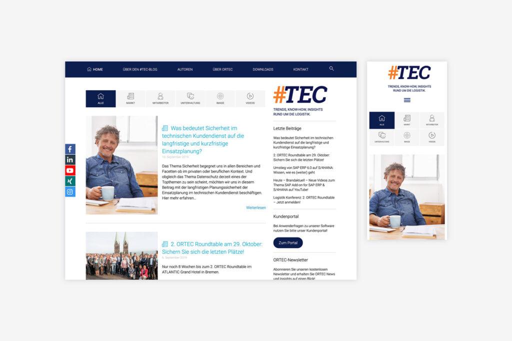 Startseite des #TEC Logistik-Blog von ORTEC