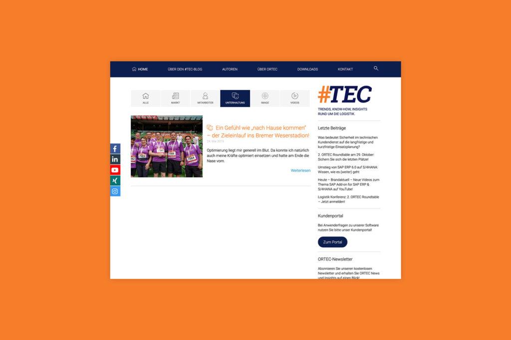 Themenbereich Unterhaltung ORTEC Blog