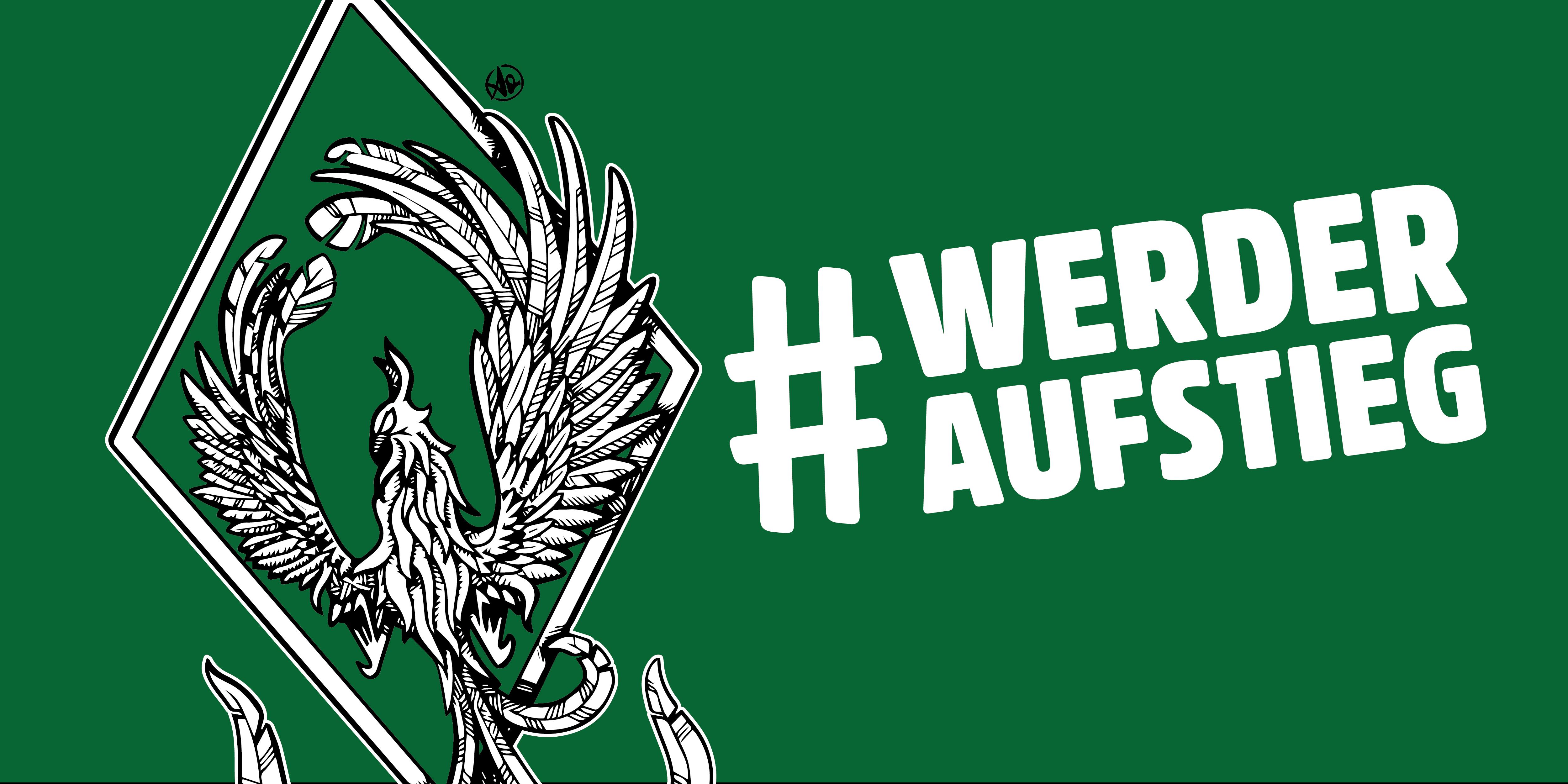 Werder Bremen Phönix Grafik für den direkten #werderaufstieg