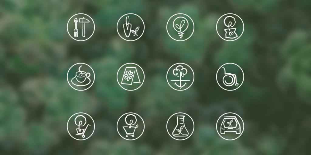 Foto der neuen Icons im Weingärtner Corporate-Design