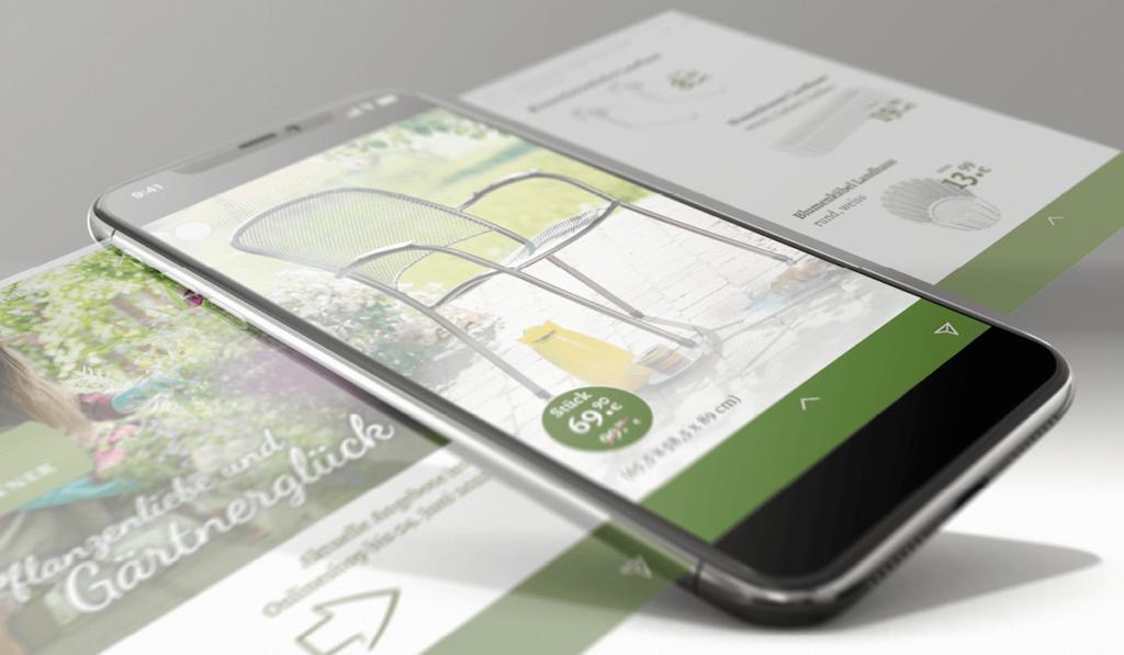 Foto einer Social Media Anzeige im neuen Corporate-Design von Weingärtner Gartencenter