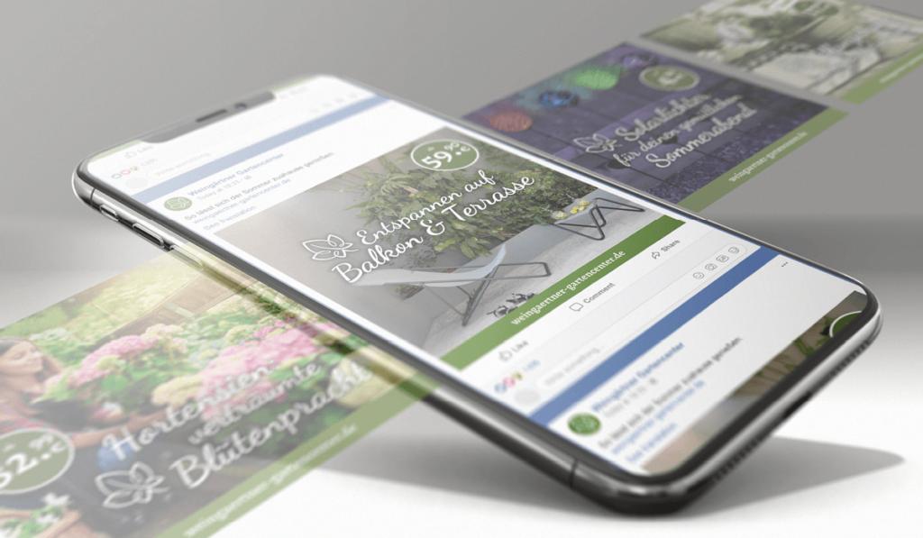 Foto eines Social Media Posts im neuen Corporate-Design von Weingärtner Gartencenter